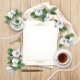 Top View Background with White Flowers - GraphicRiver Item for Sale