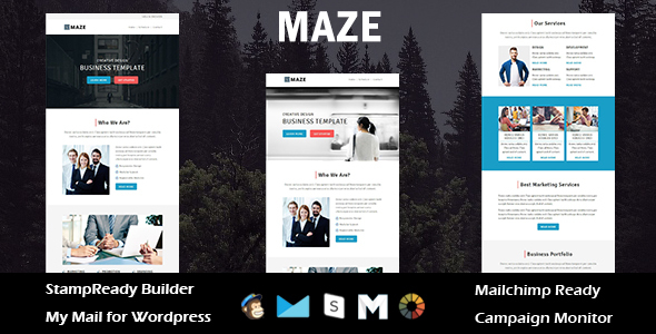 Maze – Multipurpose Responsive Email Template + Stampready Builder