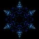 Single Sparkling Blue Christmas Winter Snowflake Lights Bokeh Kaleidoscope Emerging Pattern - VideoHive Item for Sale