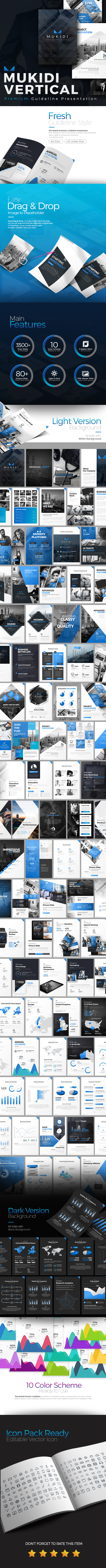 Mukidi Vertical Premium Presentation - Business PowerPoint Templates