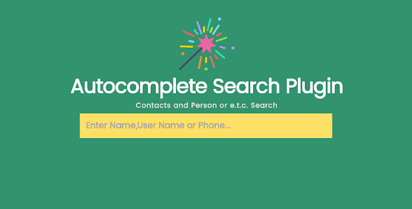 Jsearch - Contacts and Person Info Search in JSON File - CodeCanyon Item for Sale