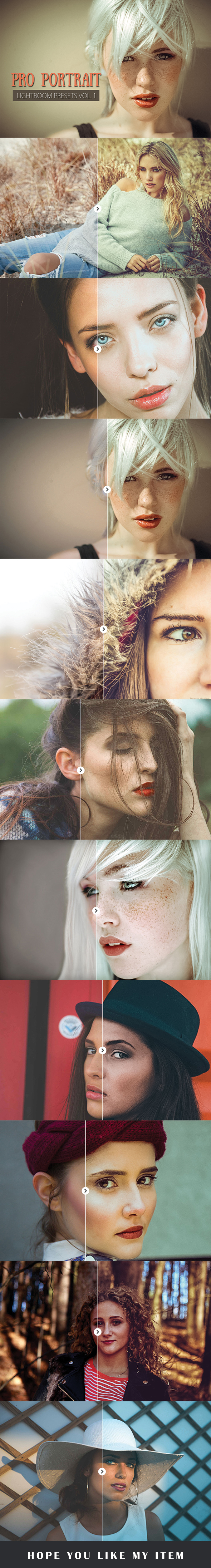 10 Portrait Lightroom Presets Ver. 1 - Lightroom Presets Add-ons