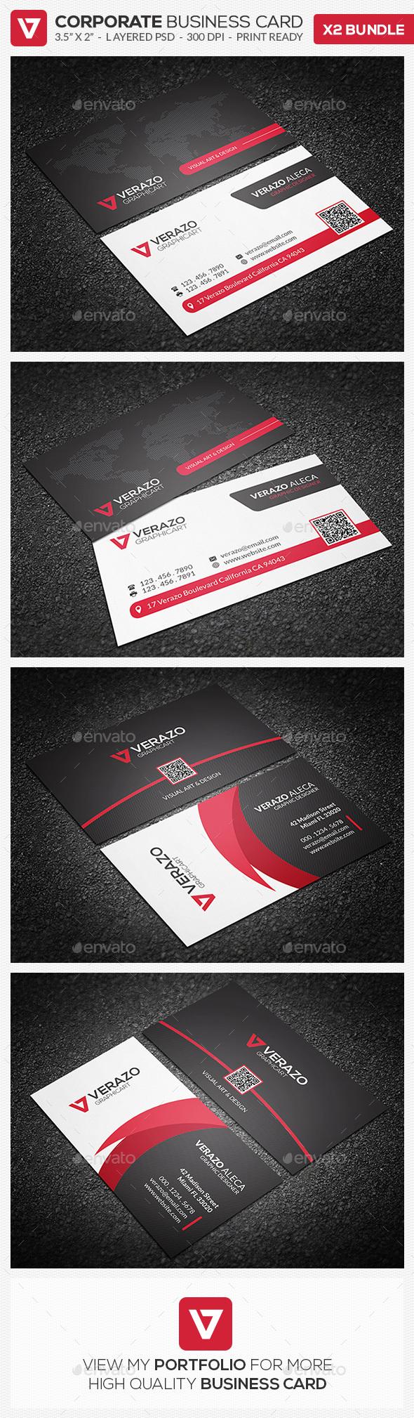 Business Card Bundle 23 - Corporate Business Cards