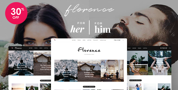 Florence – A Vivid WordPress Theme For Him and Her