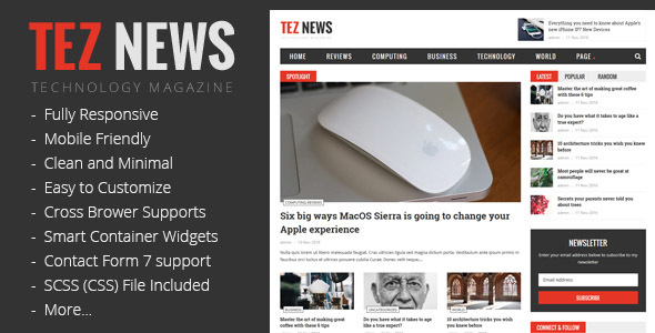 TezNews – Responsive Magazine & News Theme