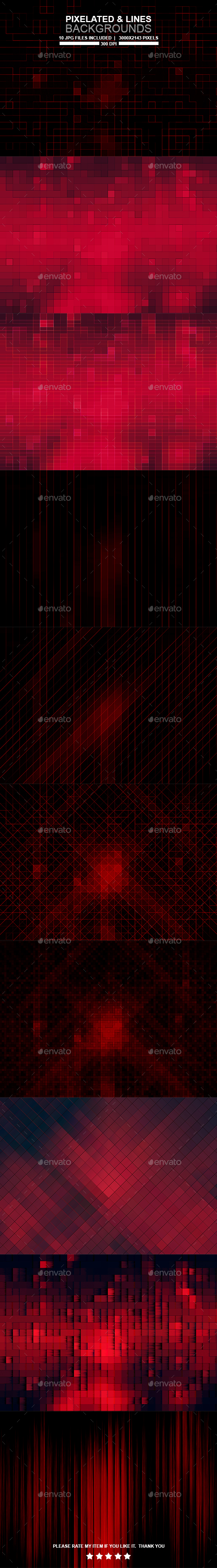 Pixelated and Line Backgrounds - Backgrounds Graphics