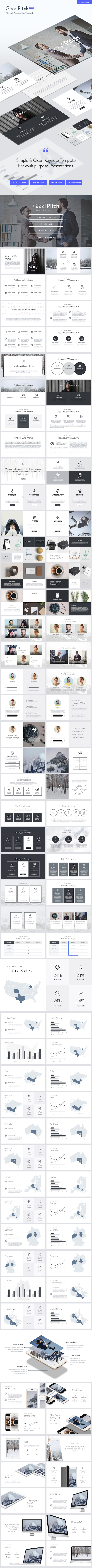 Good Pitch - Elegant Powerpoint Template - PowerPoint Templates Presentation Templates