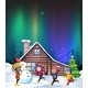 Four Kids Playing with Snow at Night - GraphicRiver Item for Sale