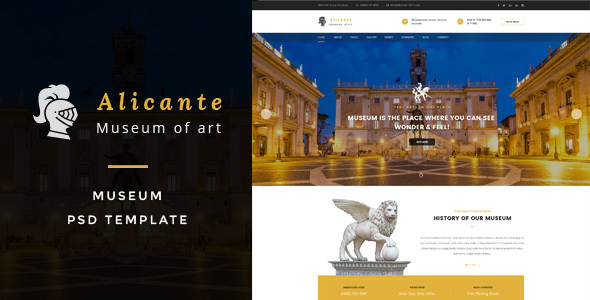 Alicante - Museum PSD Template - Art Creative