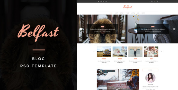 Belfast – Blog PSD Template