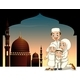 Muslim Family with Mosque Background - GraphicRiver Item for Sale