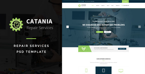Catania – Computer Repairs PSD Template