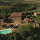 Holiday House and Fields in Tuscany on Sunny Day - VideoHive Item for Sale