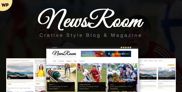 Newsroom – News, Magazine, Blog WordPress Theme Free Download