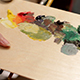 Artist Mixing Oil Colors On A Palette - VideoHive Item for Sale
