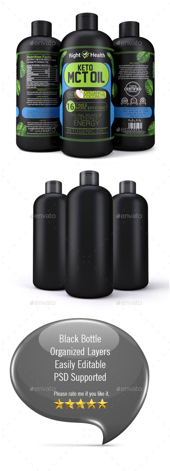Oil Bottle Mock-up - Packaging Product Mock-Ups