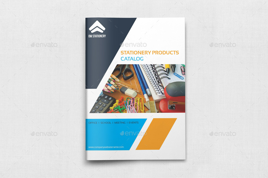 Stationery Products Catalog Brochure Template Vol2 20 Pages By