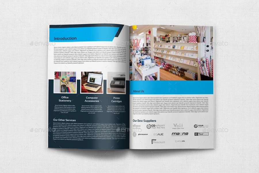 Stationery Products Catalog Brochure Template Vol   Pages By