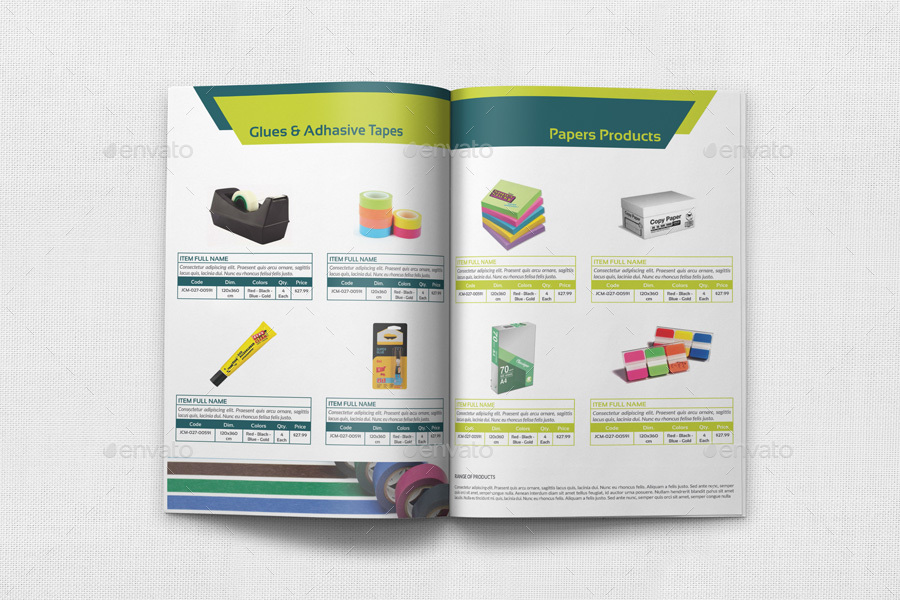 Stationery Products Catalog Brochure Template Vol 2 20 Pages By