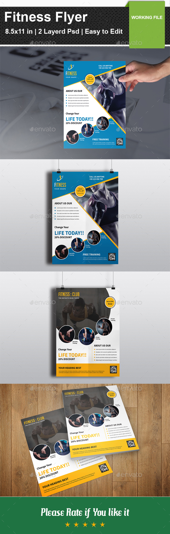 Fitness Flyer-V03 - Corporate Flyers