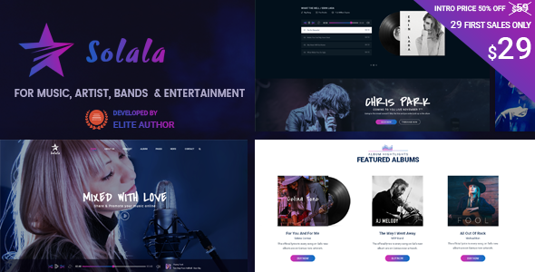 Solala Music WP | Entertainment, Band, Music WordPress Theme