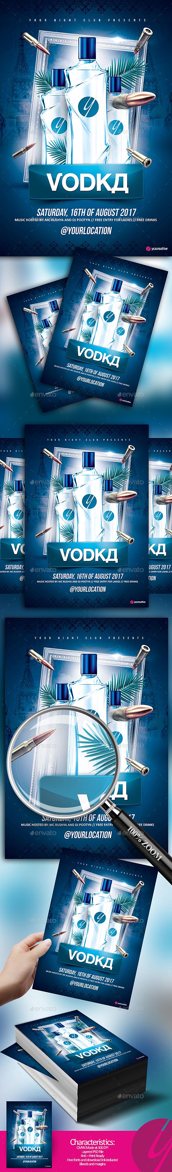 Russian Blue Vodka - Clubs & Parties Events