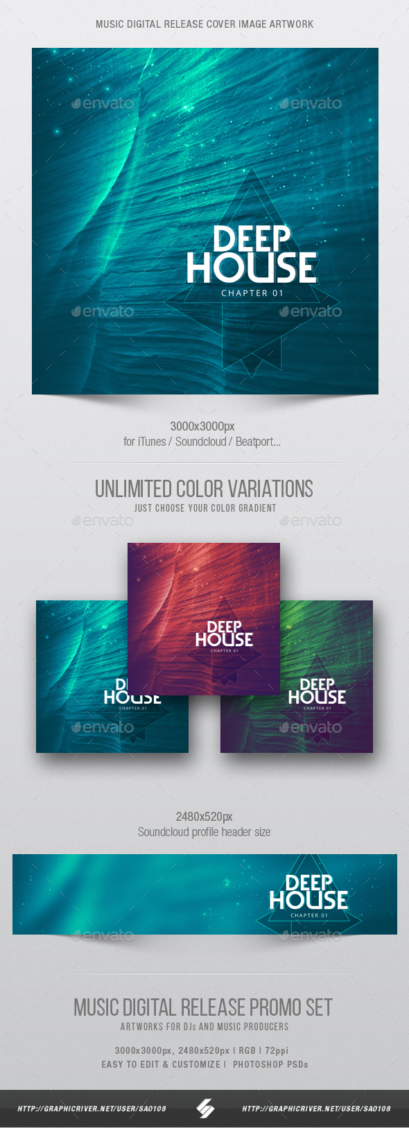 Deep House Chapter 1 - Music Cover Image Artwork Template - Miscellaneous Social Media