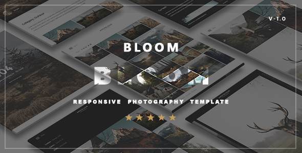 Bloom  – Responsive  Photography Portfolio Template
