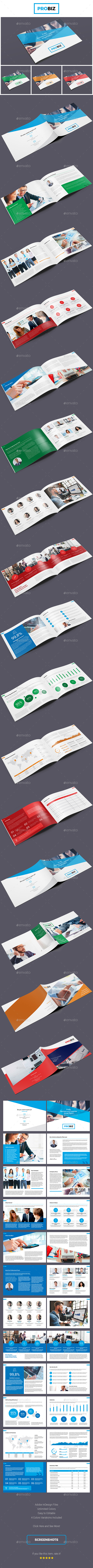 ProBiz – Business and Corporate Annual Report Horizontal - Corporate Brochures