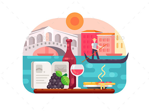Holidays in Italy - Miscellaneous Vectors