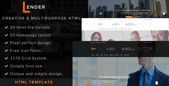 Lander | Multipurpose HTML5 Template