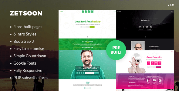 ZetSoon – Multipurpose Coming Soon Template