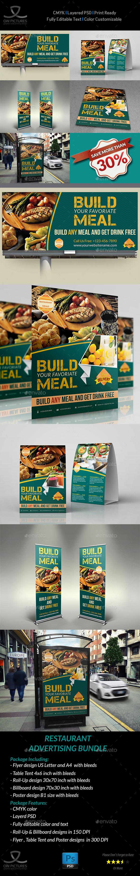 Restaurant Advertising Bundle