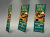 07 restaurant rollup signage%20 banner template.  thumbnail