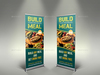 08 restaurant rollup signage%20 banner template.  thumbnail
