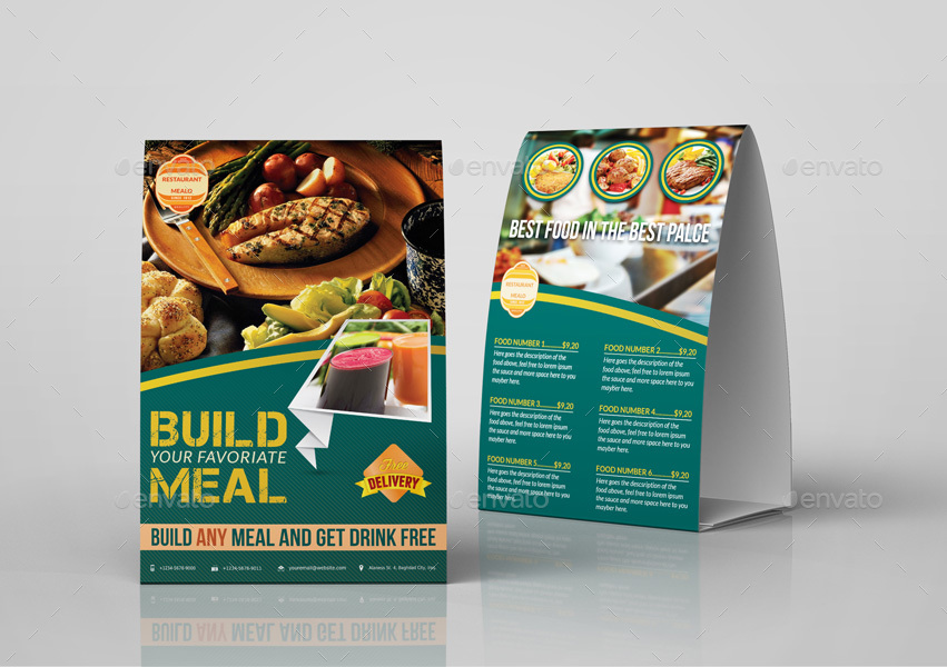 Restaurant Advertising Bundle By OWPictures GraphicRiver - Restaurant table advertising