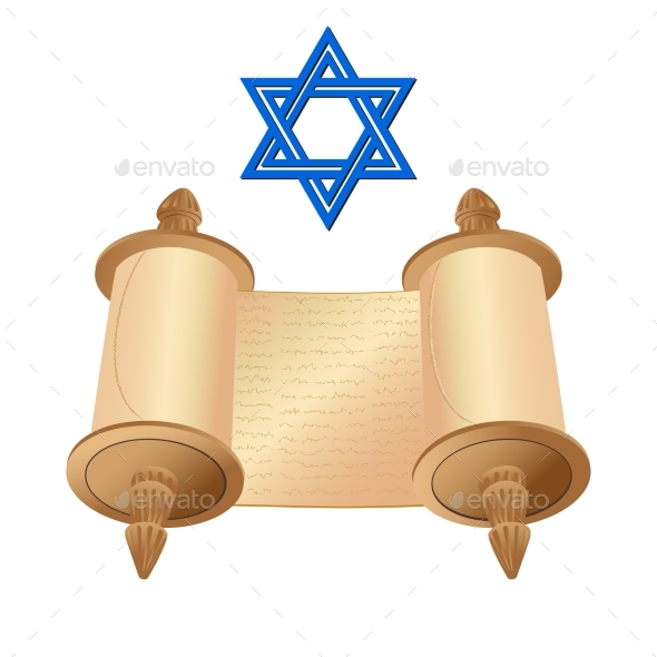 Old Scroll with Star of David - Religion Conceptual