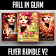 Fall in Glam Flyer Bundle V2 - GraphicRiver Item for Sale