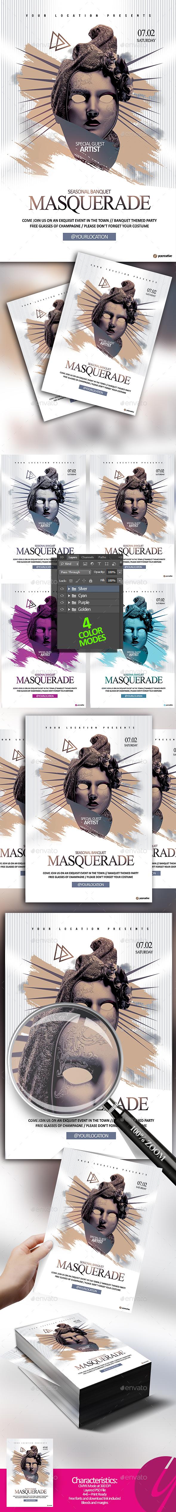Masquerade Banquet - Events Flyers