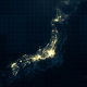 Japan Map Night Lighting Rollback 4K - VideoHive Item for Sale