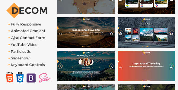 Decom – Modern Travelling Bootstrap Template