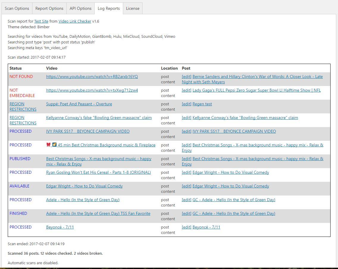 Video Link Checker - Detect broken urls from YouTube, DailyMotion,  SoundCloud, Vimeo, etc
