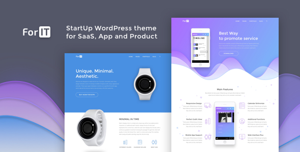 Forit Startup Wordpress Theme For Software App And Product