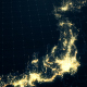 Japan Map Night Lighting Close View 4K - VideoHive Item for Sale