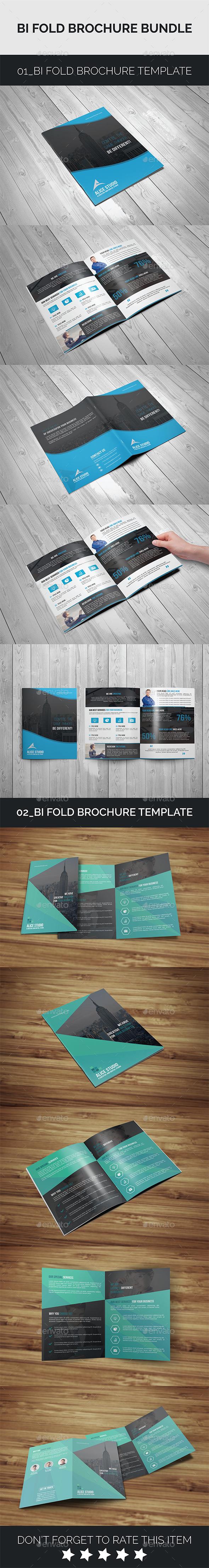 Bi-Fold Brochure Bundle 2in1 - Corporate Brochures