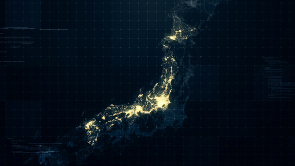 Japan map night lighting rollback hd by rodionova videohive play preview video gumiabroncs Gallery