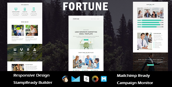 FORTUNE – Multipurpose Responsive Email Template + Stampready Builder