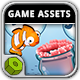 Fish 'n Jump Game Assets - GraphicRiver Item for Sale