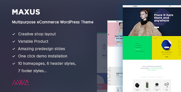 Maxus – Multipurpose eCommerce WordPress Theme
