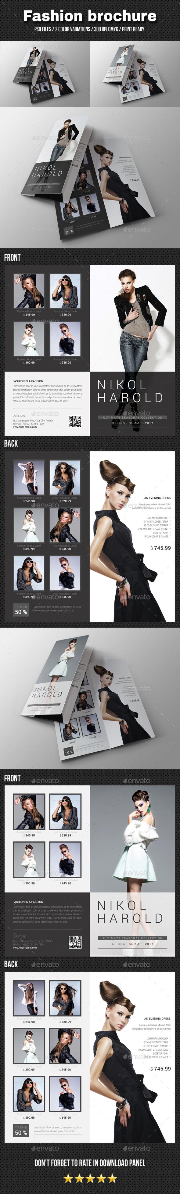 Fashion Bi-Fold Brochure - Brochures Print Templates